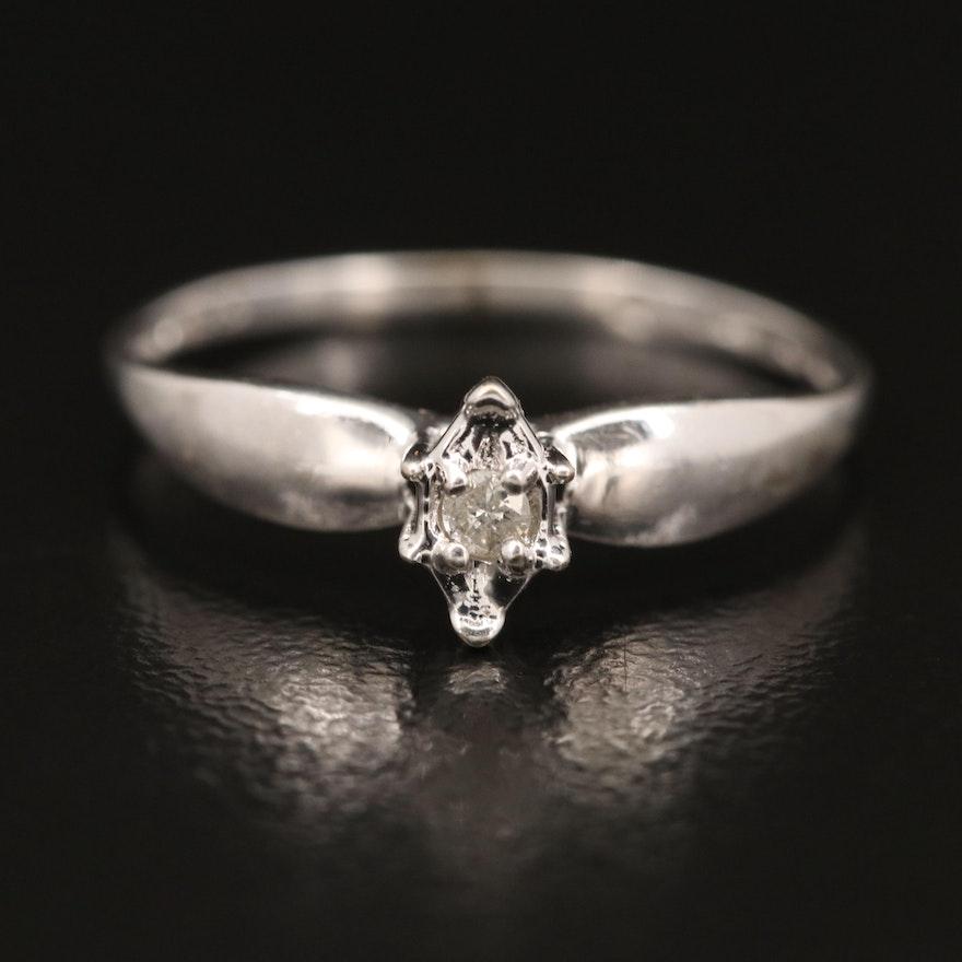 10K 0.03 CT Diamond Solitaire Ring
