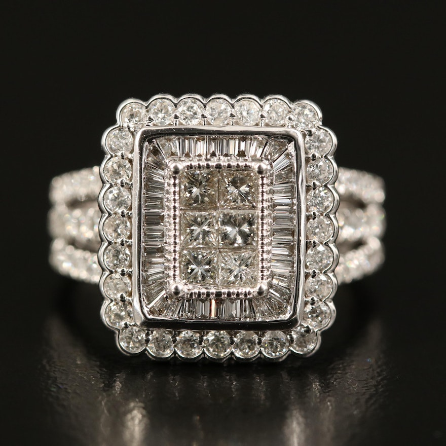 14K 1.73 CTW Diamond Ring with Scallop Detail