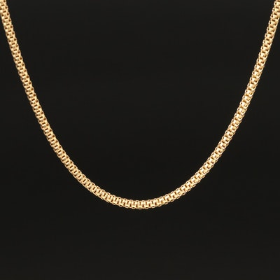 18K Fancy Link Necklace
