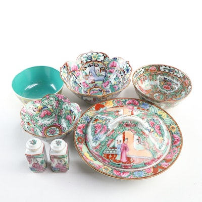 Chinese and Japanese Rose Medallion  and Other Tableware, 20th Century