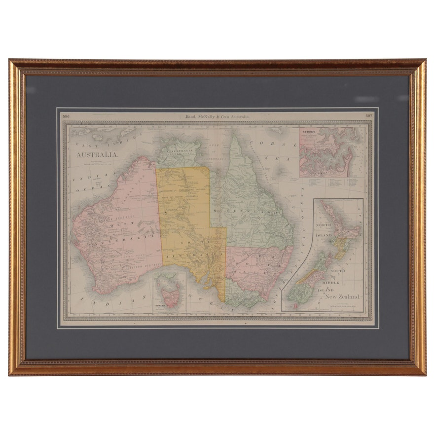 Rand, McNally & Co. Map of Australia, circa 1903