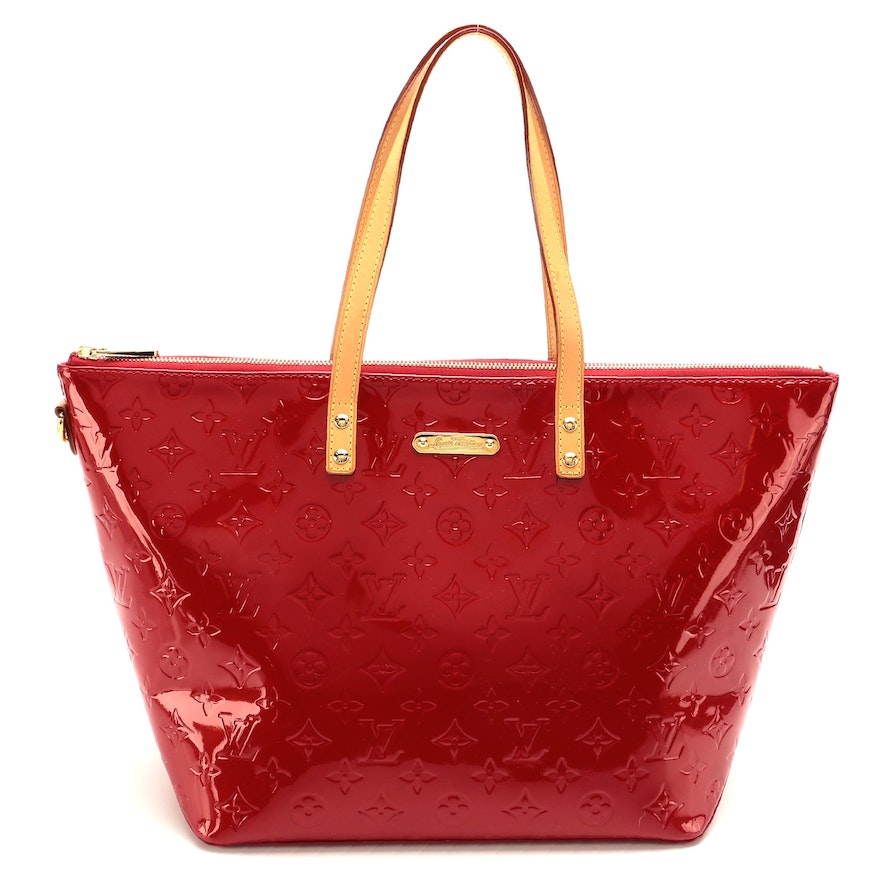 Louis Vuitton Bellevue Tote in Pomme D'Amour Vernis and Vachetta Leather