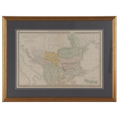 "Rand, McNally & Co. Wax Engraving Map ""Turkey in Europe,"" circa 1903"