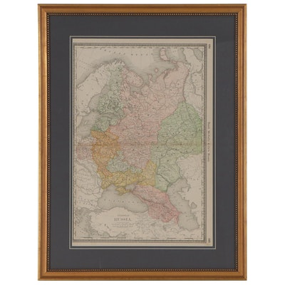 """Rand, McNally & Co. Wax Engraving Map """"European Russia,"""" circa 1903"""