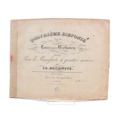 """Quatrième Sinfonie Oeuv. 60"" New Edition by Ludwig van Beethoven, c. 1810"