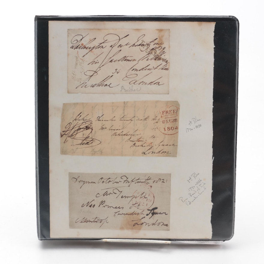 Handwritten Letters by King Oscar of Sweden and Norway, More, 1820 - 1933