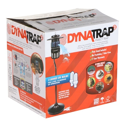 DynaTrap Insect Trap with Black Pole Mount