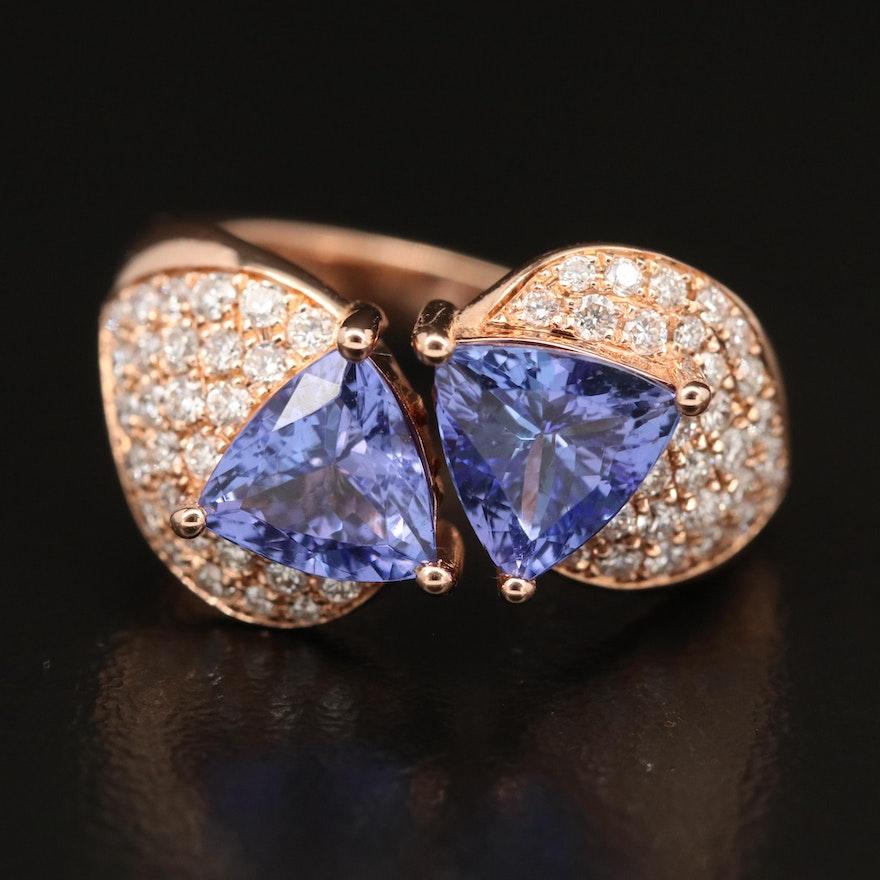 EFFY 18K Tanzanite and Diamond Ring
