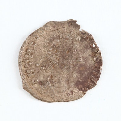 Ancient Roman Imperial AR Siliqua of Theodocius I, 379–395 AD