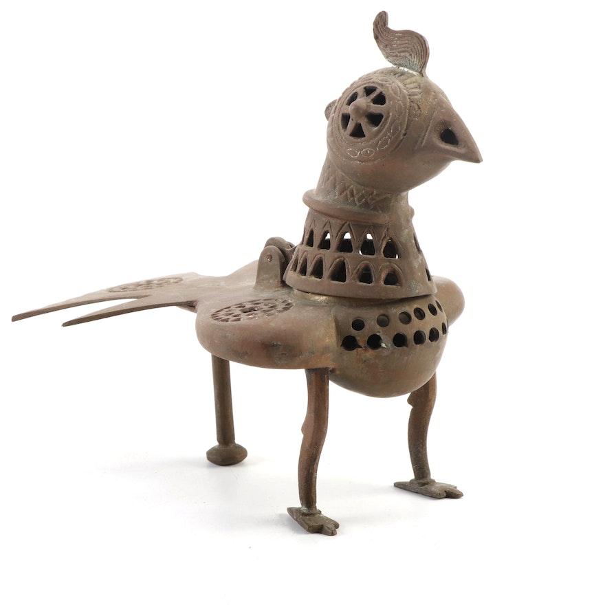 Brass Bird Tabletop Censer