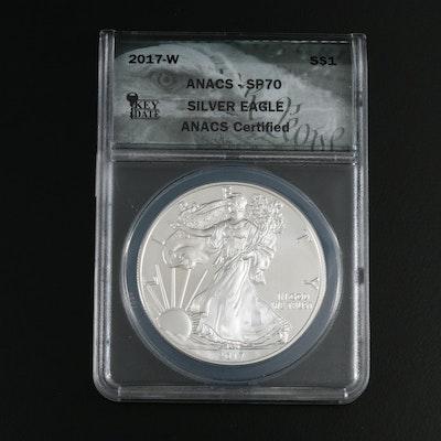 ANACS Graded SP70 2017-W $1 American Silver Eagle