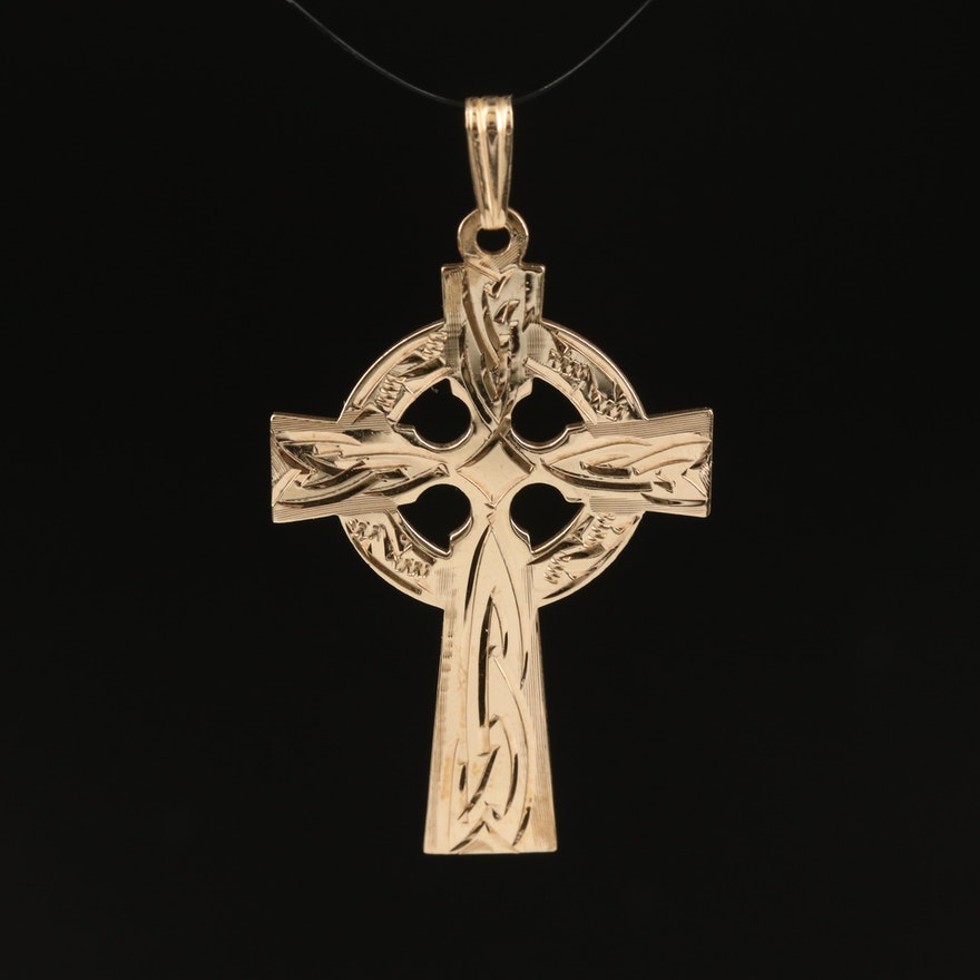 9K Celtic Cross Pendant