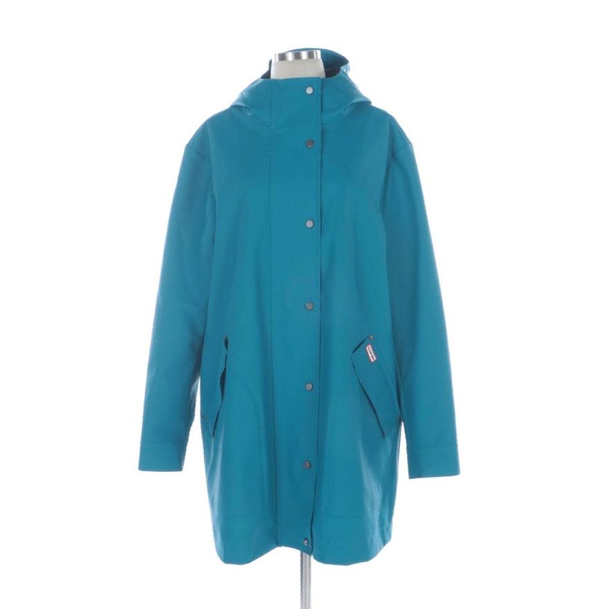 Hunter Rain Jacket in Ocean Blue