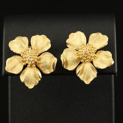 """Tiffany & Co. """"Tiffany Classics"""" 18K Wild Rose Earrings"""