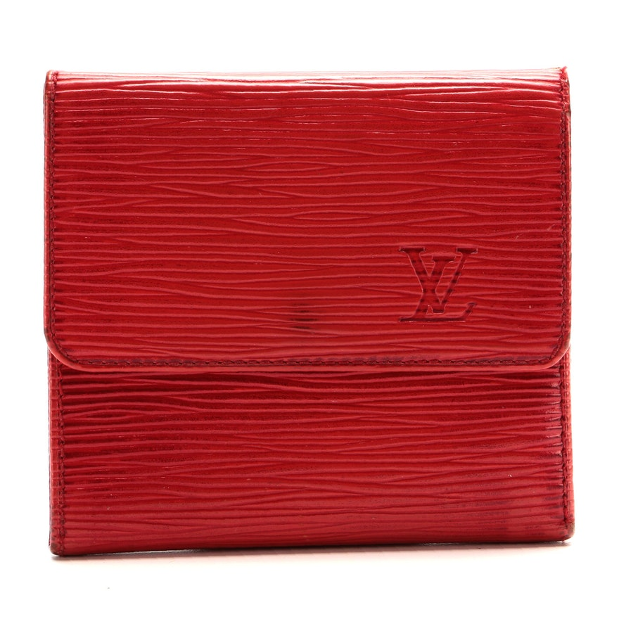 Louis Vuitton Malletier Compact Wallet in Red Epi Leather