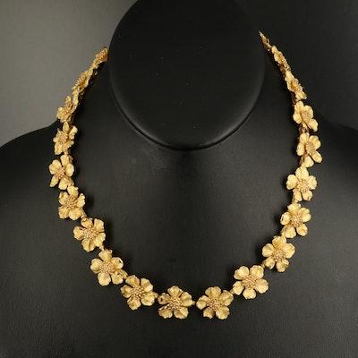 """Tiffany & Co. """"Tiffany Classics"""" 18K Wild Rose Necklace"""