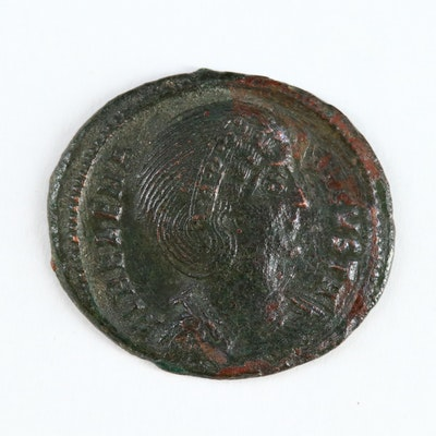 Ancient Roman Imperial AE Follis Coin of Helena, ca. 318 AD