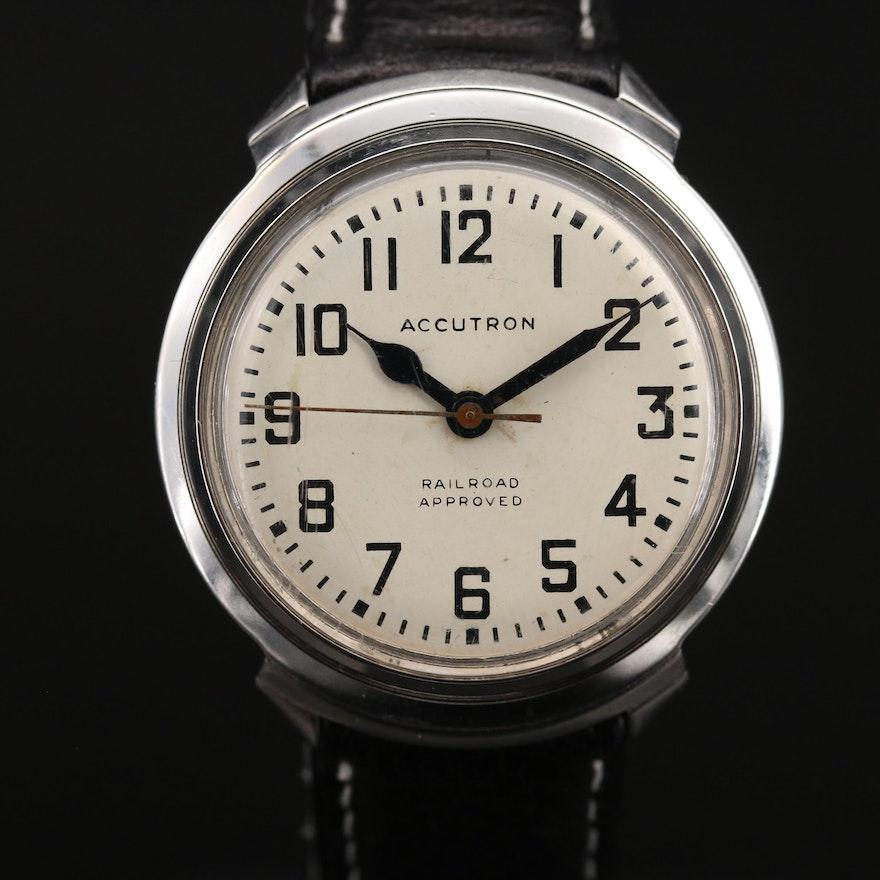 1966 Bulova Accutron 201 Railroad Stainless Steel Tuning Fork Wristwatch