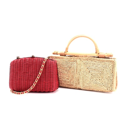 Tandem Bags and Other Wicker and Woven Bags