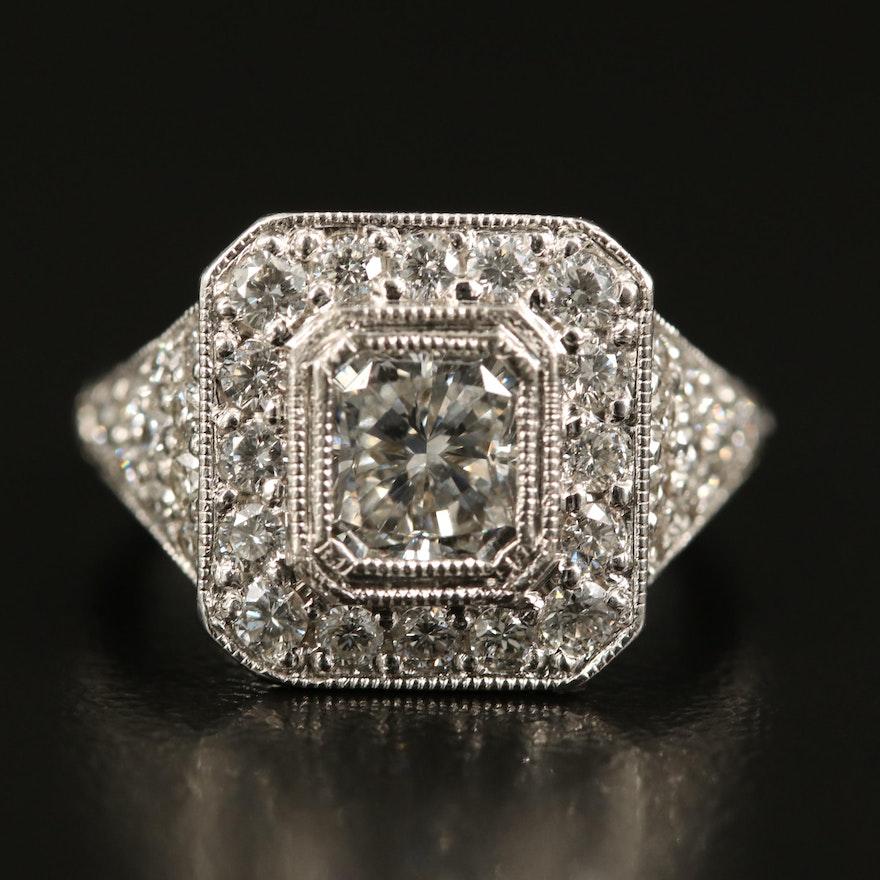 14K 2.59 CTW Diamond Ring with GIA Report