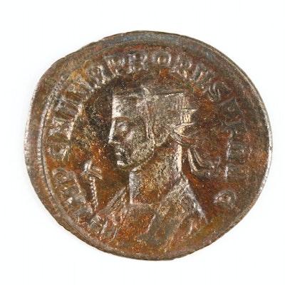 Ancient Roman Imperial AE Antoninianus Coin of Probus, ca. 276 AD
