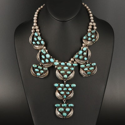 Pat Chee Navajo Diné Sterling Silver Turquoise Necklace