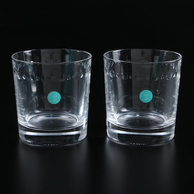Tiffany & Co. Crystal Double Old Fashioned Glasses