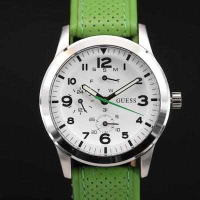 Guess Waterpro Multifunction Stainless Steel Quartz Wristwatch