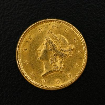 1851 Liberty Head Type 1 Gold Dollar