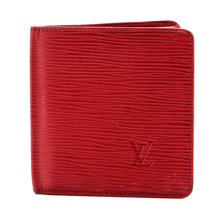 Louis Vuitton Malletier Bifold Card Case in Red Epi Leather