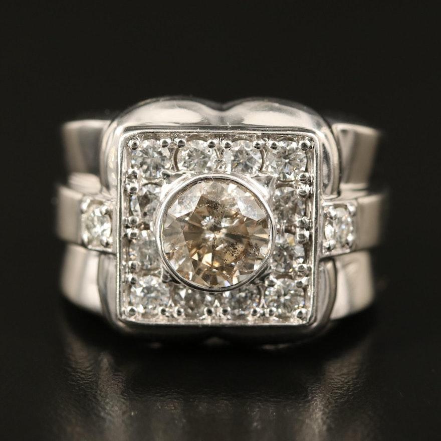 14K 3.99 CTW Diamond Ring