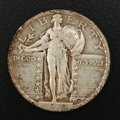 1919 Standing Liberty Silver Quarter