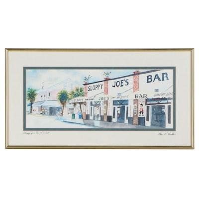 "Pam Webb Digital Print ""Joe's Sloppy Bar - Key West"""