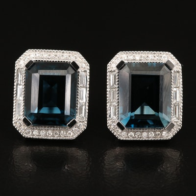 EFFY 14K Topaz and Diamond Earrings