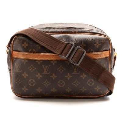Louis Vuitton Reporter PM Bag in Monogram Canvas and Smooth Leather