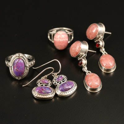 Sterling Ring and Earring Sets Including David Troutman Navajo Diné