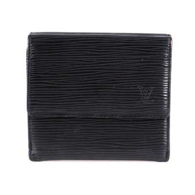 Louis Vuitton Elise Wallet in Black Epi Leather