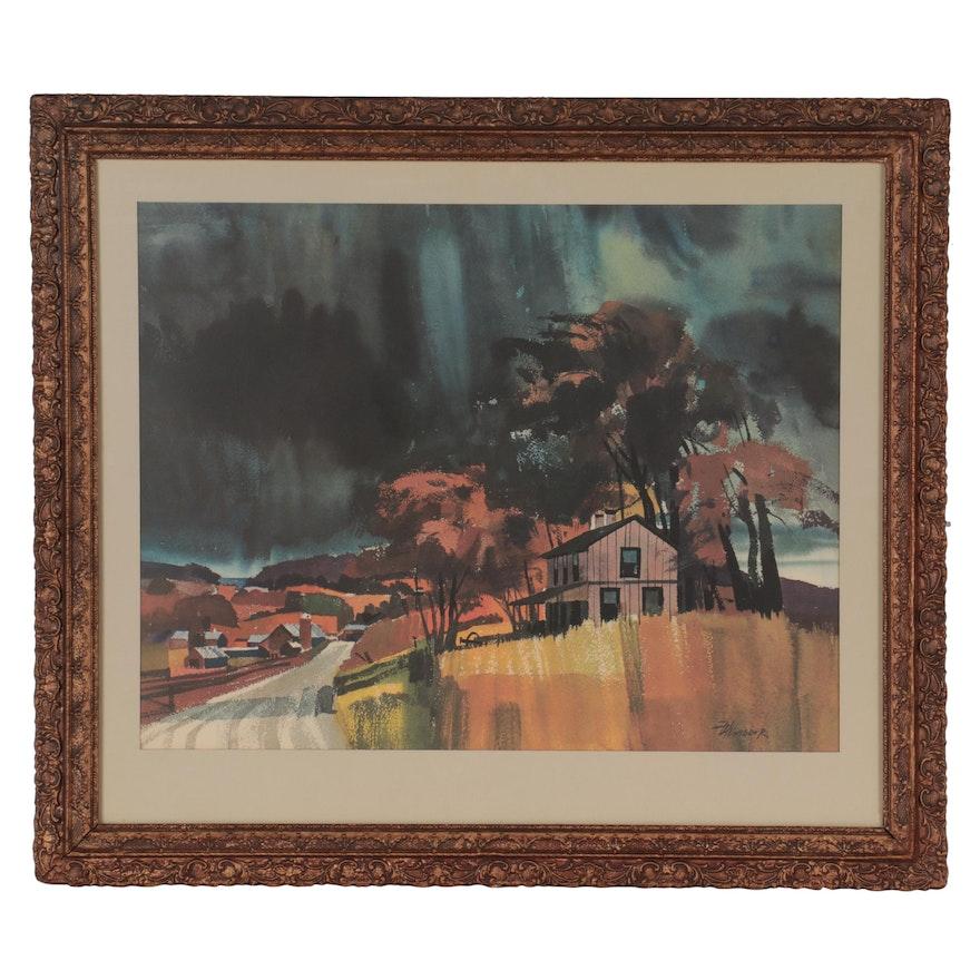 Landscape Offset Lithograph after Frank Hartman Wagner