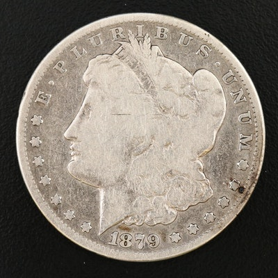 Key Date Low Mintage 1879-CC Morgan Silver Dollar