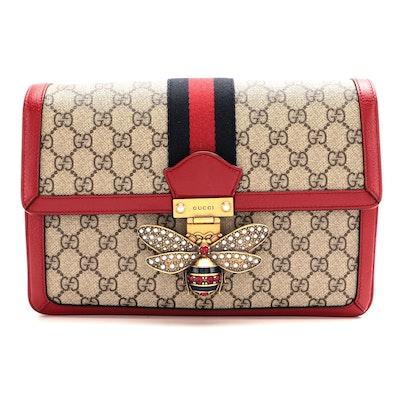 Gucci Queen Margaret Shoulder Bag in Supreme Canvas