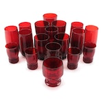 """Anchor Hocking """"Royal Ruby"""" Roly Poly Tumblers and Other Red Glasses"""