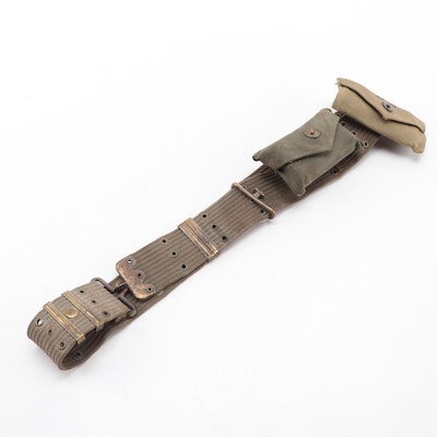 U.S. Army Combat Military Belt with First Aid Supplies, Dated 1942