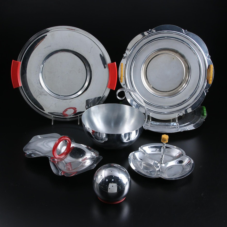 Chase, Bruce Hunt, and Other Art Deco Chrome Serveware