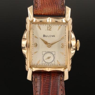 1956 Bulova 10K Rolled Gold Plate Stem Wind Wristwatch