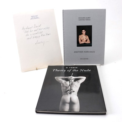 """Signed """"Another Narcissus"""" and """"Theory of the Nude"""" by Dimitris Yeros"""