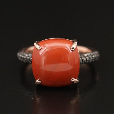 EFFY 14K Jasper and Black Diamond Ring
