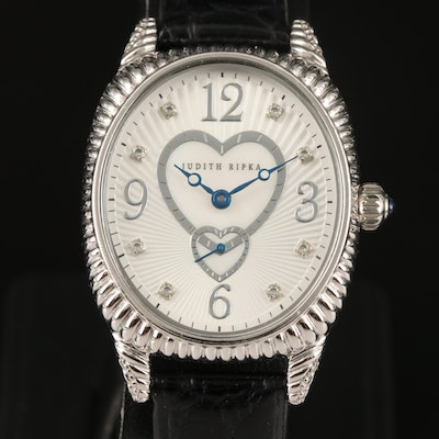 Sterling Silver and Stainless Steel Judith Ripka Quartz Wristwatch