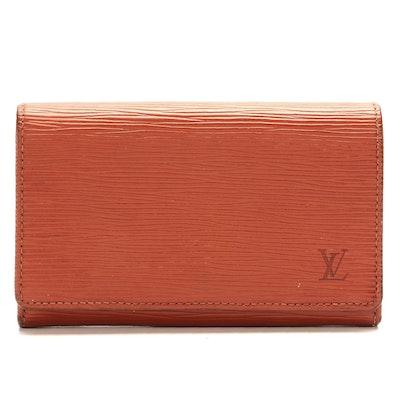 Louis Vuitton Porte-Monnaie Billets Trésor in Kenyan Fawn Epi Leather