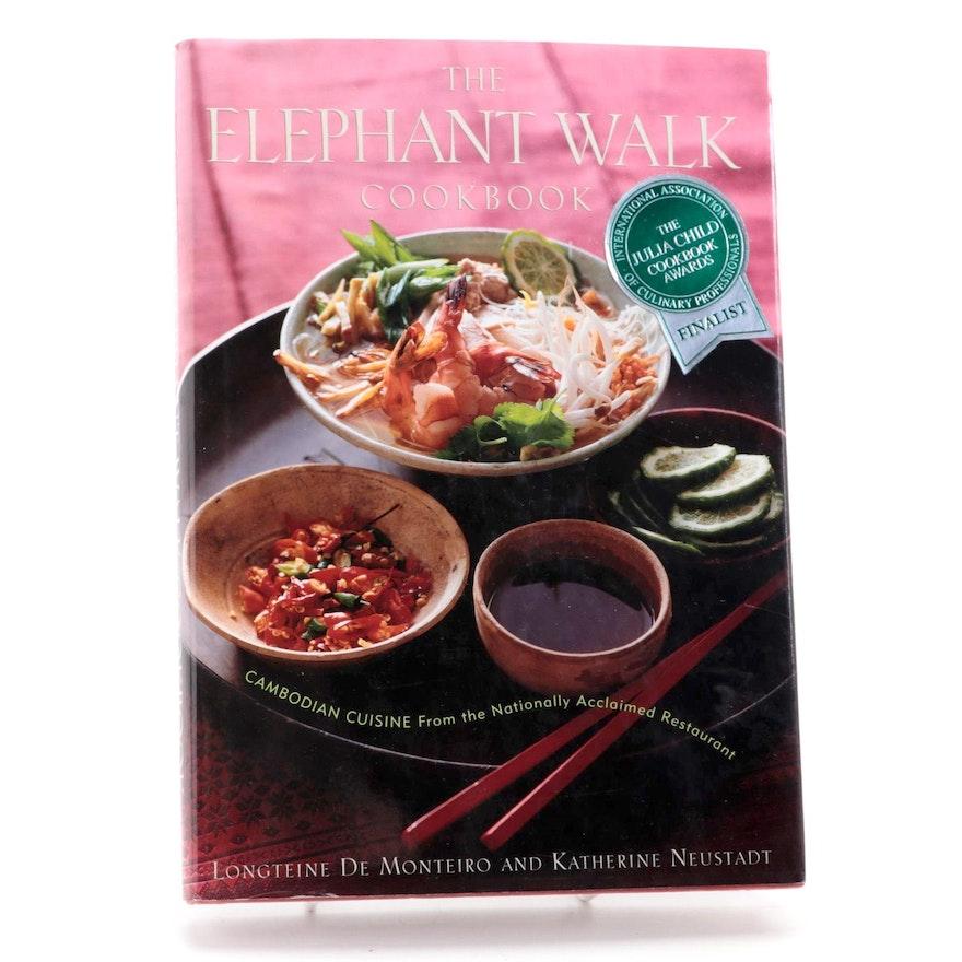 "Signed First Edition ""The Elephant Walk Cookbook"" by Longteine de Monteiro, 1998"