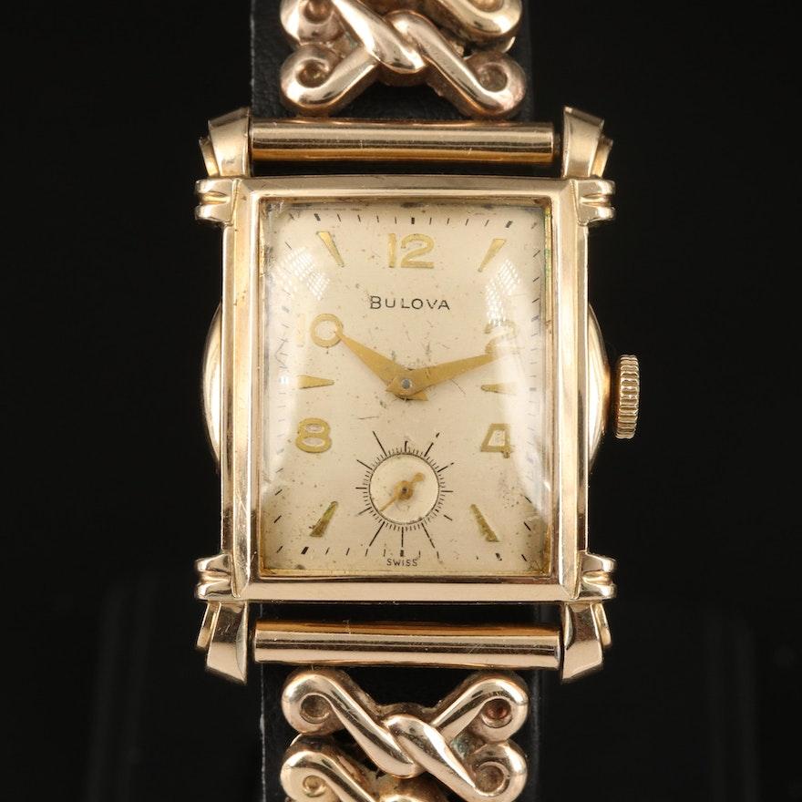 1953 Bulova 10K Rolled Gold Plate Stem Wind Wristwatch